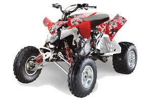Polaris Outlaw 450 / 500 / 525 ATV Graphic Kit - 2006-2008 Urban Camo Orange Camoplate