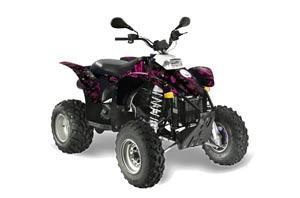 Yamaha Blaster YFS200 ATV Graphic Kit - 1988-2001 Ed Hardy - Love Kills White Butterfly