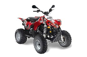 Polaris Scrambler / Trailblazer 500 ATV Graphic Kit - 1985-2009 Camoplate Red