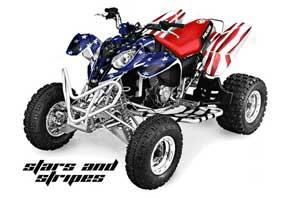 Polaris Predator 500 ATV Graphic Kit - 2002-2011 Stars N Stripes Red