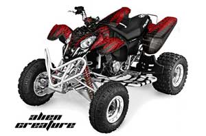 Polaris Predator 500 ATV Graphic Kit - 2002-2011 Alien Red