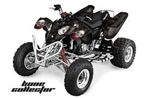 Polaris Predator 500 ATV Graphic Kit - 2002-2011 Bone Collector Black