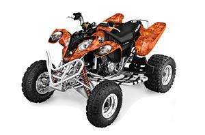 Polaris Predator 500 ATV Graphic Kit - 2002-2011 Bone Collector Orange