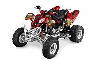 Polaris Predator 500 ATV Graphic Kit - 2002-2011 Motorhead Red