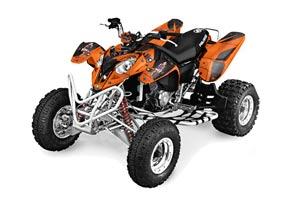 Polaris Predator 500 ATV Graphic Kit - 2002-2011 Reaper Orange