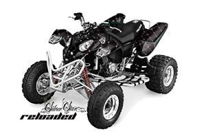 Polaris Predator 500 ATV Graphic Kit - 2002-2011 Silver Star - Reloaded White