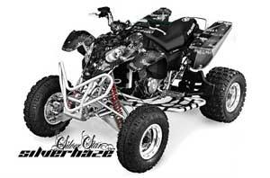 Polaris Predator 500 ATV Graphic Kit - 2002-2011 Silver Star - Silverhaze White