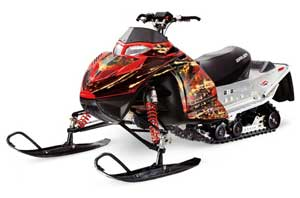 Polaris IQ Race 600 Sled Graphic Kit - All Years Firestorm Red