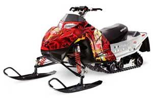 Polaris IQ Race 600 Sled Graphic Kit - All Years Motorhead Mandy Red