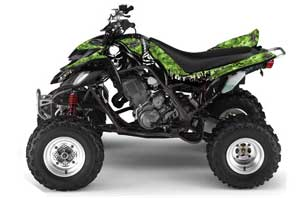 Honda TRX 700 XX ATV Graphic Kit - 2009-2015 Ed Hardy - Pirates Yellow Reaper