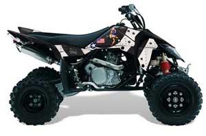 Suzuki LTR 450 ATV Graphic Kit - 2006-2009 T Bomber Black
