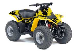 Suzuki QuadSport LT 80 ATV Graphic Kit - 1987-2006 Camoplate Yellow