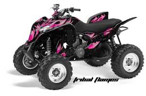 Honda TRX 700 XX ATV Graphic Kit - 2009-2015 Tribal Flames Pink