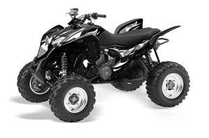 Honda TRX 700 XX ATV Graphic Kit - 2009-2015 Tribal Flames Silver
