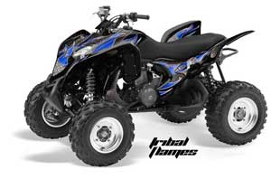 Honda TRX 700 XX ATV Graphic Kit - 2009-2015 Tribal Flames Blue
