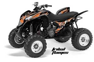 Honda TRX 700 XX ATV Graphic Kit - 2009-2015 Tribal Flames Orange