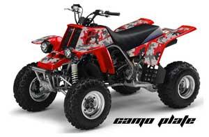 Yamaha Banshee 350 (Full Bore Plastics) ATV Graphic Kit - All Years Camoplate Red