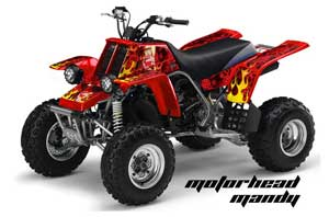 Yamaha Banshee 350 (Full Bore Plastics) ATV Graphic Kit - All Years Motorhead Mandy Red