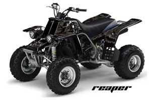 Honda TRX 400EX ATV Graphic Kit - 1999-2007 Skulls n Hammers Black Reaper