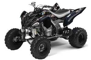 Yamaha Raptor 700 ATV Graphic Kit - 2006-2012 Mad Hatter Black