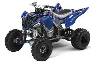 Yamaha Raptor 700 ATV Graphic Kit - 2006-2012 Mad Hatter Blue