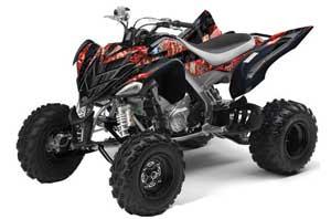 Yamaha Raptor 700 ATV Graphic Kit - 2006-2012 Mad Hatter Red