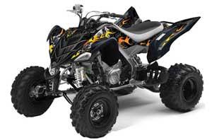 Yamaha Raptor 700 ATV Graphic Kit - 2006-2012 Motorhead Black