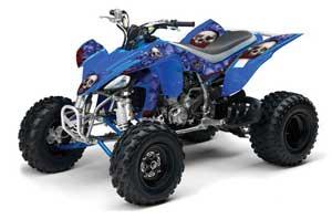 Yamaha YFZ 450 ATV Graphic Kit - 2004-2014 Bone Collector Blue