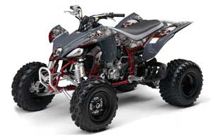 Yamaha YFZ 450 ATV Graphic Kit - 2004-2014 Bone Collector Silver