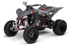Yamaha YFZ 450 ATV Graphic Kit - 2004-2014 Checkered Skull Red