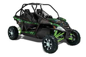 Arctic Cat Wildcat Graphic Kit - 2012-2016 Mad Hatter Green