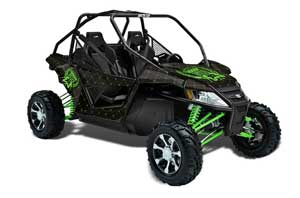 Arctic Cat Wildcat Graphic Kit - 2012-2016 Silver Star - Reloaded Green