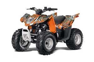 Arctic Cat DVX90 ATV Graphic Kit - 2008-2017 Deaden Orange