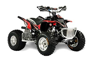 Apex Pro Shark MXR 70 / 90 ATV Graphic Kit - All Years Tribal Flames Red