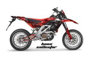 Aprilia SXV 4.5 / 5.5 Dirt Bike Graphic Kit - 2006-2015 Bone Collector Red