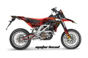 Aprilia SXV 4.5 / 5.5 Dirt Bike Graphic Kit - 2006-2015 Motorhead Red
