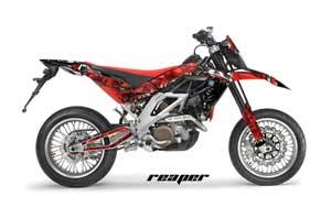 Aprilia SXV 4.5 / 5.5 Dirt Bike Graphic Kit - 2006-2015 Reaper Red