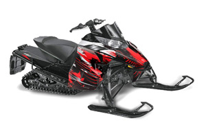 Arctic Cat ProCross Sno Pro Sled Graphic Kit - 2012-2016 Carbon X Red