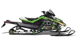 Arctic Cat Z1 Turbo Sled Graphic Kit - 2006-2012 Mad Hatter Green