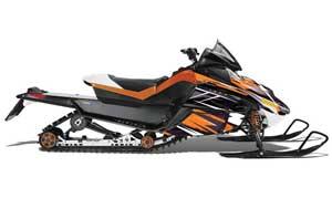 Arctic Cat Z1 Turbo Sled Graphic Kit - 2006-2012 Attack Orange