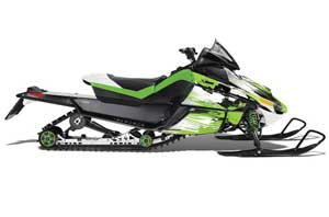 Arctic Cat Z1 Turbo Sled Graphic Kit - 2006-2012 Carbon X Green