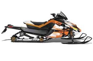 Arctic Cat Z1 Turbo Sled Graphic Kit - 2006-2012 Carbon X Orange