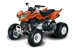 Arctic Cat DVX250 ATV Graphic Kit - All Years Bone Collector Orange