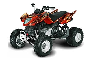 Arctic Cat DVX250 ATV Graphic Kit - All Years Firestorm Red