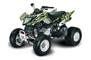 Arctic Cat DVX400 ATV Graphic Kit - All Years Guns Green