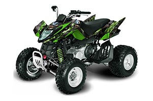 Arctic Cat DVX250 ATV Graphic Kit - All Years Mad Hatter Green