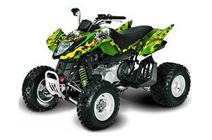 Arctic Cat DVX400 ATV Graphic Kit - All Years Motorhead Green