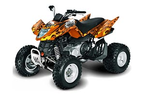Arctic Cat DVX400 ATV Graphic Kit - All Years Motorhead Orange