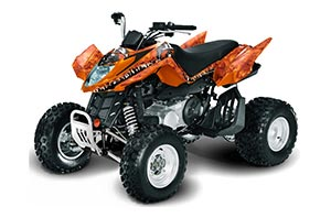 Arctic Cat DVX250 ATV Graphic Kit - All Years Reaper Orange