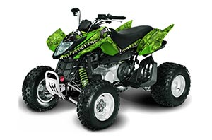 Arctic Cat DVX250 ATV Graphic Kit - All Years Reaper Green